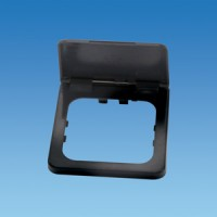 C-Line Frame surround Grey and flap cover, garage socket PO251