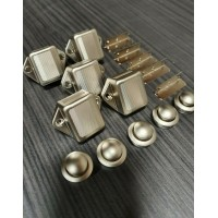5 pack MINI NICKEL PUSH BUTTON CATCH BEST QUALITY