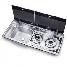DOMETIC SMEV 9722 COMBI SINK AND HOB COMBO BURNER LEFT OR RIGHT TAP NOT INCLUDED