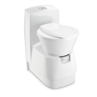 Dometic CTS4110 CERAMIC inlay Cassette Toilet Electric Flush