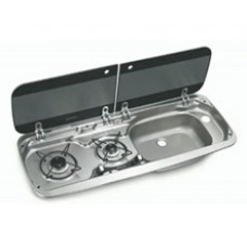 DOMETIC SMEV 9222 COMBI SINK AND HOB COMBO BURNER LEFT OR RIGHT TAP NOT INCLUDED