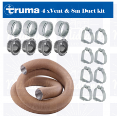 TRUMA COMBI BOILER 65mm DUCTING PIPE KIT GREY TO SUIT 2E 4E 6E camper motorhome