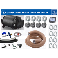 TRUMA COMBI 4E BOILER AND SPACE HEATER COMPLETE BUNDLE KIT inc vents,ducting,nuts and clips